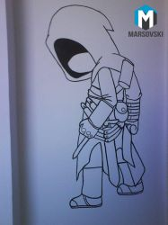 Assassins Creed Chibi - Wall paint by Marsovski
