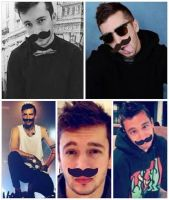 tyler joseph with mustaches by littlegaybunbun
