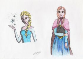 Elsa and Anna by ElyGraphic