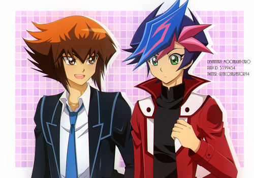 Yusaku y Judai by MoonLight-Caro
