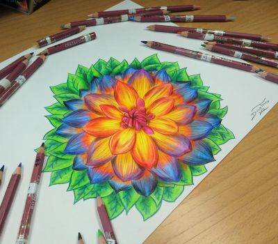 Flower drawing =) by AtomiccircuS