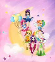 [MLP]My Little Pony humanized(gala ver.) by allwellll