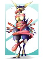 [Artwork] A Tongue Tied Greninja... by Wouhlven
