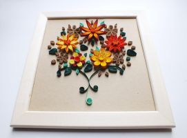 quilling picture of Summer Bouquet by othewhitewizard