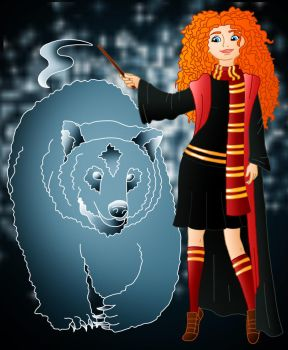 Disney Hogwarts students: Merida by Willemijn1991