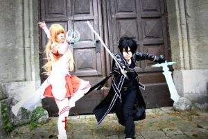 Sword Art Online - Asuna and Kirito Cosplay by K-I-M-I