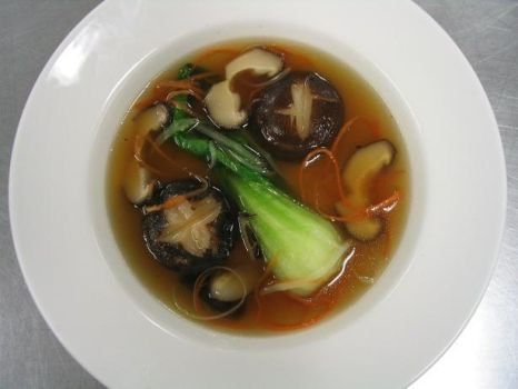 Beef Shiitake Consome by Option--Zero