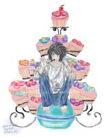Lawliet Eats Cake 02 by LifesaDoodle