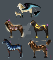 [OPEN 2/5] Equine adoptables! by Ciy-chan