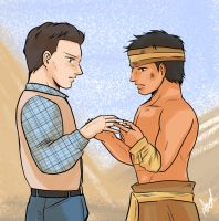 Young John Reid and Tonto by athena-i