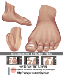 How To Paint Feet Tutorial .promo by sylessae