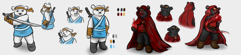 Bearly Brothers Concept Art by ShakeablePanda