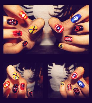 Marvel Nails by KariInlove