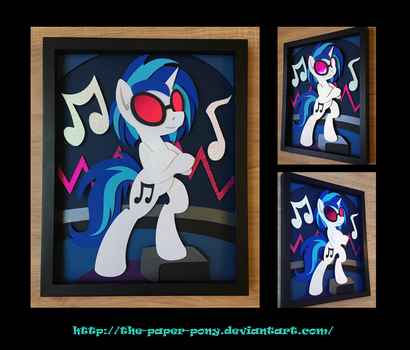 11X14 Vinyl Scratch Shadowbox by The-Paper-Pony