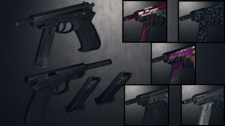 [MMD] CZ-75 Auto pack for DL by AbyssLeo