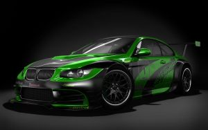 BMW M3 GTR Black Studio by stefanmarius