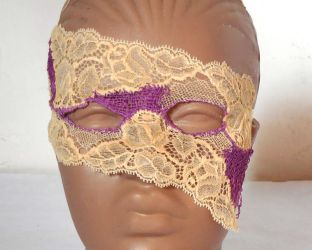 Lace mask with embroidery and netting by dovespirit