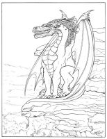 Dragon_Lost Lands_Inks by DocRedfield