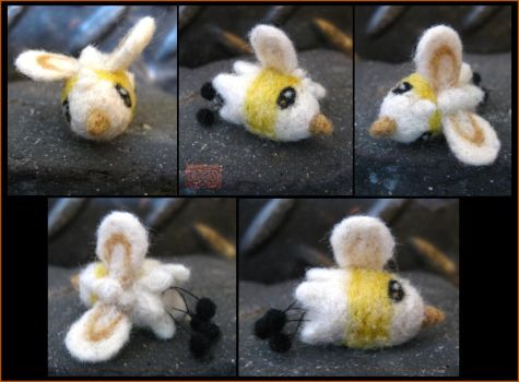 Miniature Needle Felted Cutiefly by CopperCentipede
