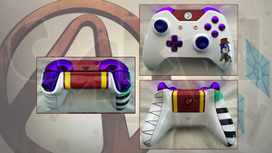 Moxxi / Rarity Custom Xbox One Controller by CARDI-ology