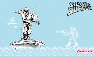 Silver Surfer NES Wallpaper by jamsketchbook