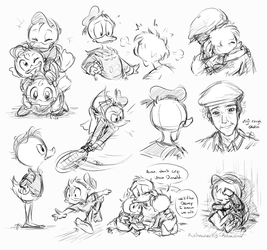 duck sketch dump by Rainmaker113