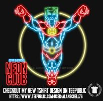 Captain Planet neon by AlanSchell