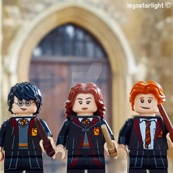 Harry, Hermione and Ron by Legostarlight