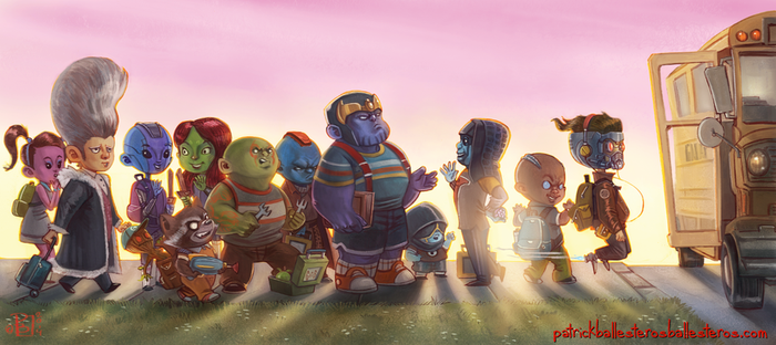 Kinderguardians Of The Galaxy by patrickballesteros