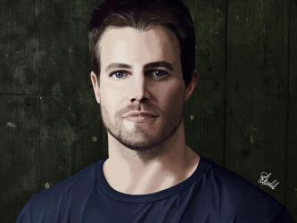 Stephen Amell by hwoary