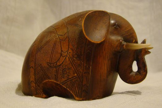 Wooden elephant 2 by Panopticon-Stock