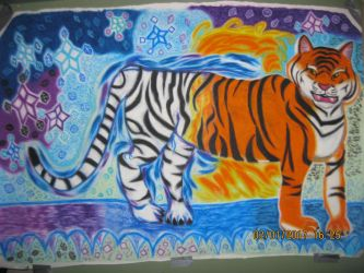 Life-Size Animal Drawing (in Super Vivid Mode) by Winter-Colorful