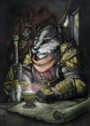 Badger-Lord master-portrait FULL-COLOR by Briansbigideas