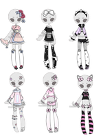 + Outfit Adoptable Mix 8 [ CLOSED ] + by Hunibi