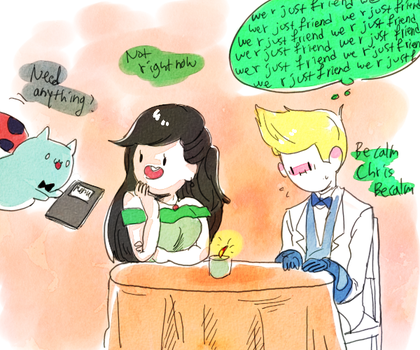 request: Chris and beth on date by memmemn