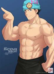 MuscleUp - Hobo Phoenix Wright by zephleit