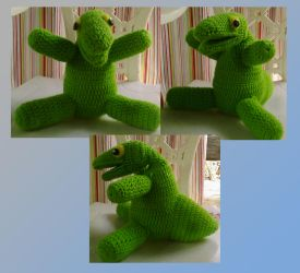 Crocheted Hotara Plush by TargonRedDragon