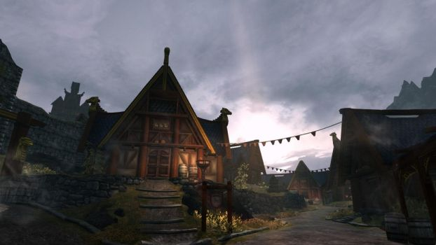 Early morning in Whiterun by theAmnesiaofDarkness