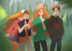 Gravity falls by WeiPo