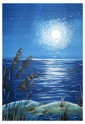 The scenery of the moonlit night by Alena-48