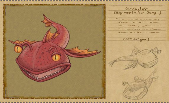 Bestiary Project - Grouder by Sharulia