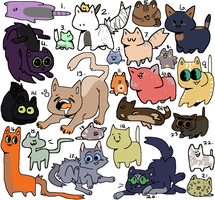 Mixed Cat Adopts! (Points, OTA, Auction, Free) by AppleCiderStar