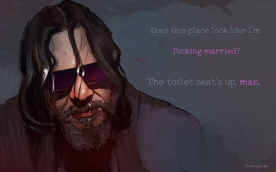 The toilet seat's up, man. by theLazyLion