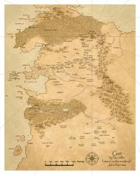 Map of Gor by Gorean-Art