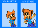 Your style my style meme by Vivi-the-fennec-fox