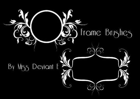 Frames Photoshop Brushes by Miss-deviantE