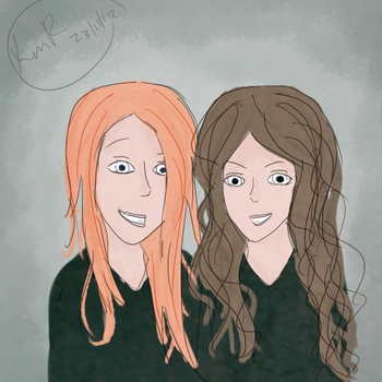 Ginny and Hermione by Katherine-Robertson