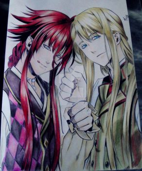 Balder and Loki Kamigami no Asobi by Tzio-Cdm
