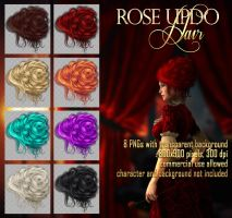 Rose Updo - HAIR STOCK by Trisste-stocks