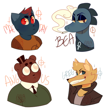more nitw stickers!! by dongoverlord